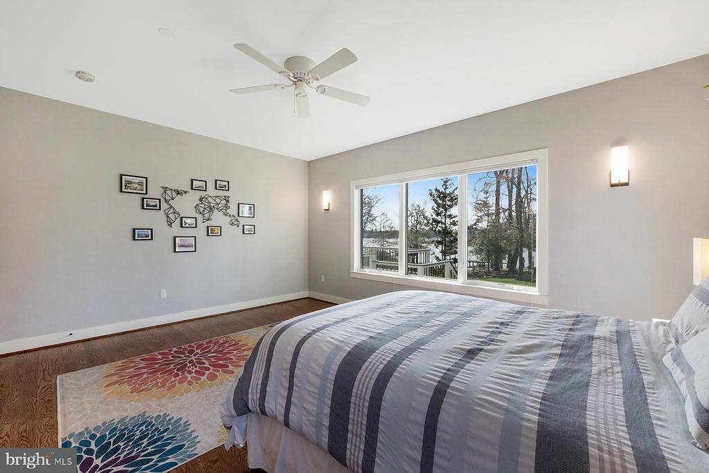 Beautiful water views in main level master bedroom - 1696 BEECH LN, ANNAPOLIS
