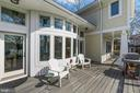 Step out from the great room to the waterside deck - 1696 BEECH LN, ANNAPOLIS