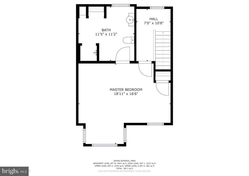 Floor Plan - Apt 2 Level 2 - 1330 IRVING ST NW, WASHINGTON