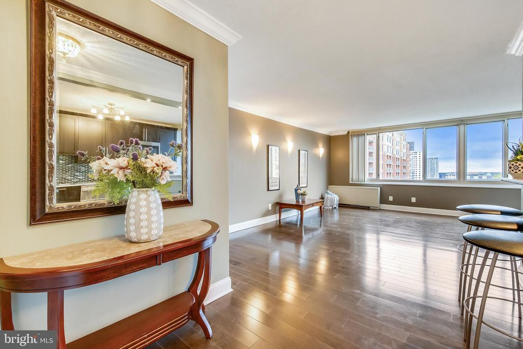 Foyer looking toward Living Room - 11801 ROCKVILLE PIKE #1405, ROCKVILLE