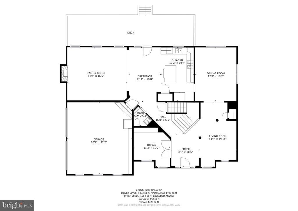 Main level - 42580 FAWN MEADOW PL, CHANTILLY