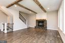 Relax by the fire. Look at those beams! - 3012 (LOT 3) THURSTON RD., FREDERICK