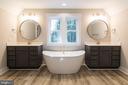 Luxury master bath. - 3012 (LOT 3) THURSTON RD., FREDERICK