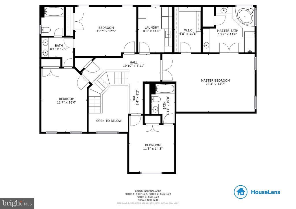 Floor Plan- Upper level - 20240 MCNAMARA RD, POOLESVILLE