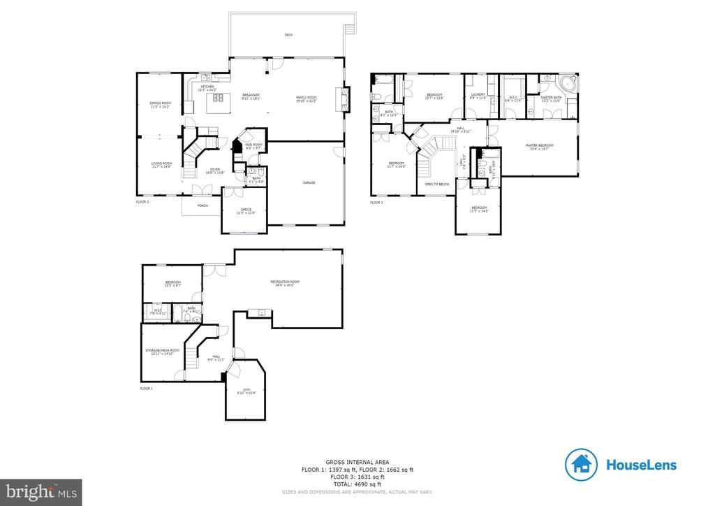 All 3 levels - 20240 MCNAMARA RD, POOLESVILLE