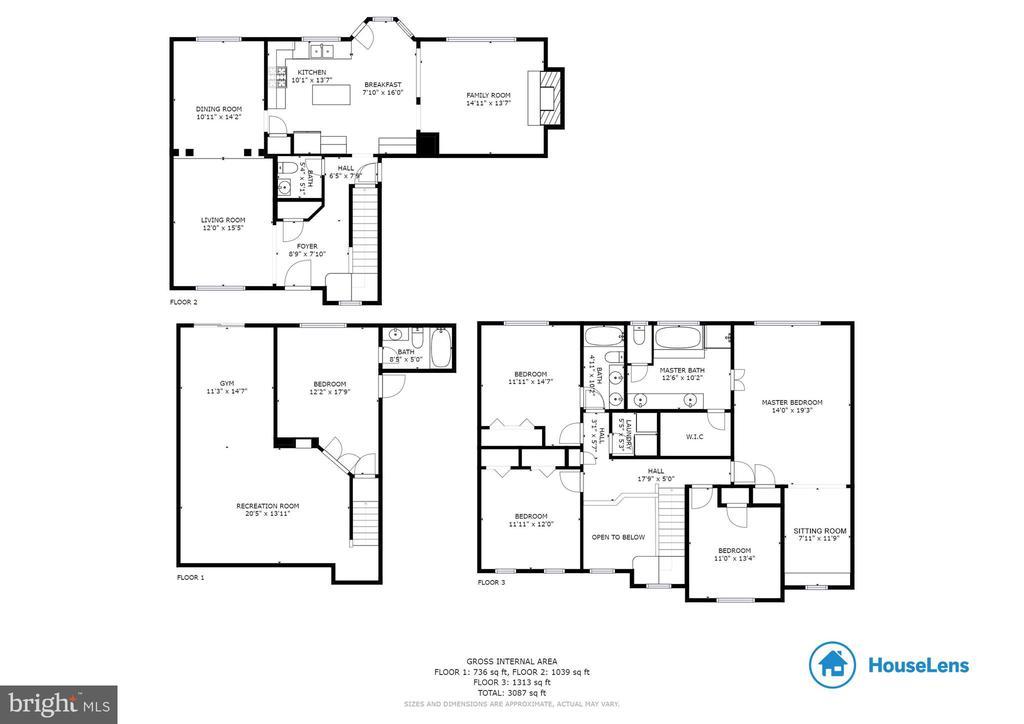 Whole House Floor Plan - 3551 ESKEW CT, WOODBRIDGE