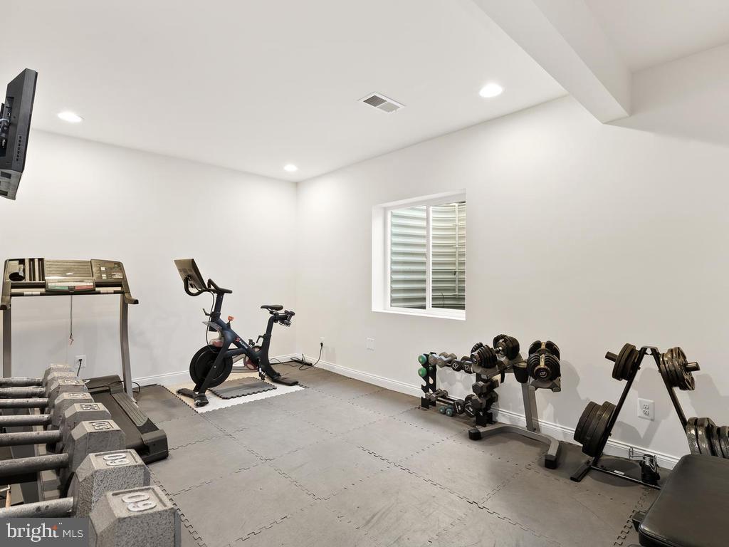 5th Bedroom in Basement with Window & Closet - 41488 DEER POINT CT, ALDIE