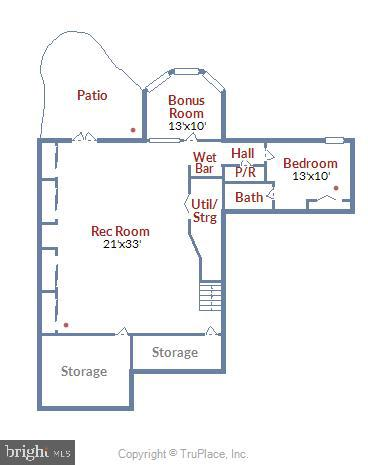 Lower Level Floorplan - 6308 MOUNTAIN BRANCH CT, BETHESDA