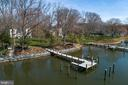 Aerial view of the pier and revetment - 1696 BEECH LN, ANNAPOLIS