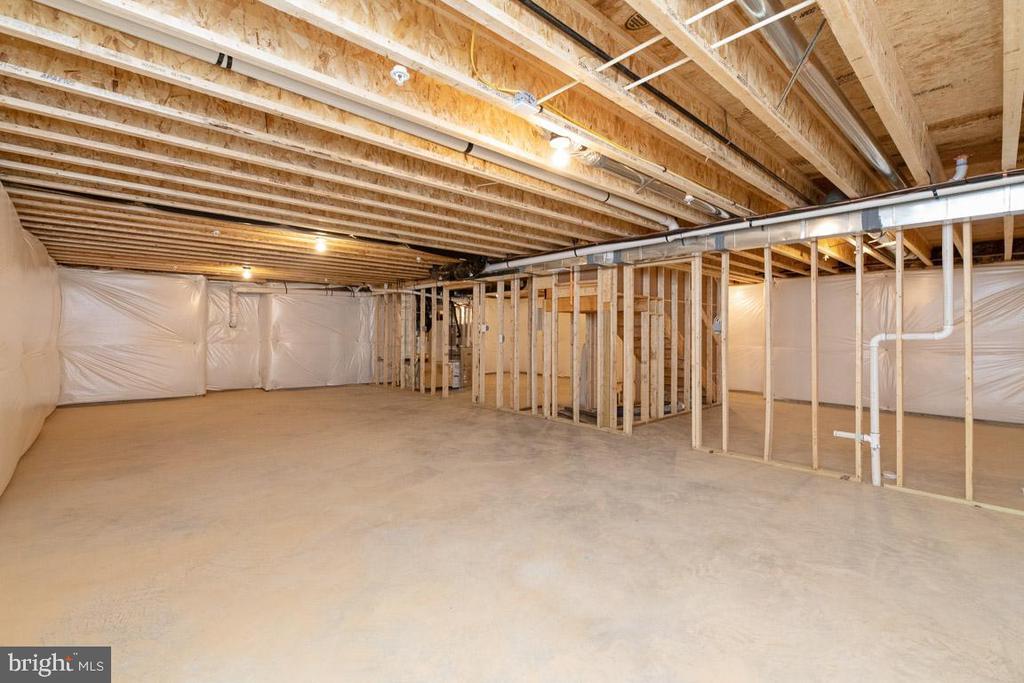 Full basement. - 7142 MASTERS RD, NEW MARKET