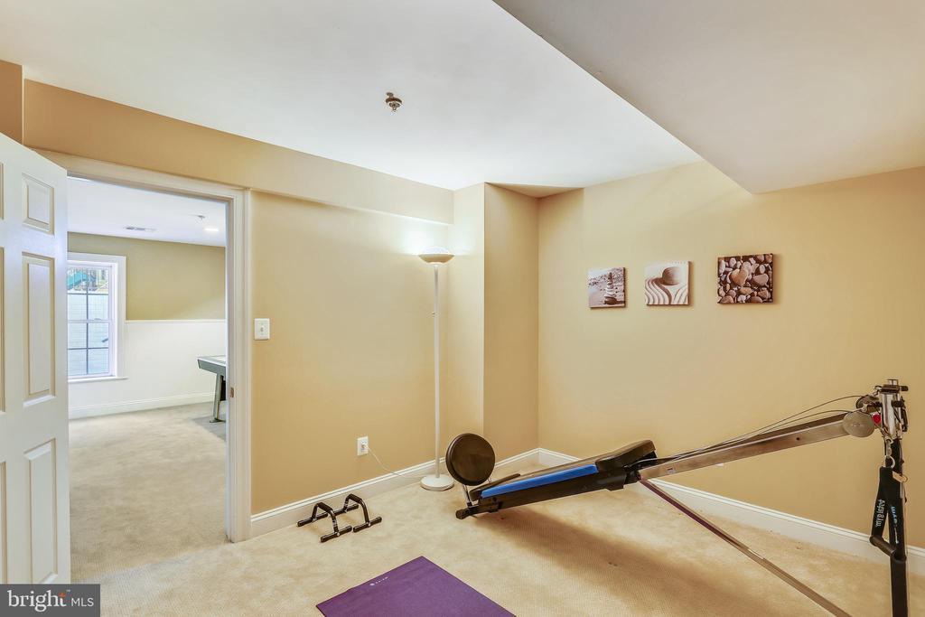 Basement Fitness Room/Bonus Room - 606 OAK KNOLL TER, ROCKVILLE