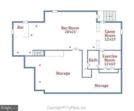 Lower Level Floorplan - 606 OAK KNOLL TER, ROCKVILLE