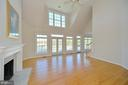 Family room has high ceilings and gorgeous views! - 19771 GREGGSVILLE RD, PURCELLVILLE