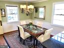 Spacious dining room - 7411 RIDGEWOOD AVE, CHEVY CHASE