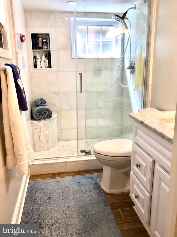 Lower level full bath - 7411 RIDGEWOOD AVE, CHEVY CHASE