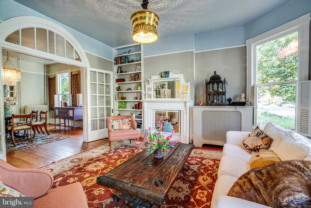 High ceilings and built in's makes this room - 1112 CHARLES ST, FREDERICKSBURG