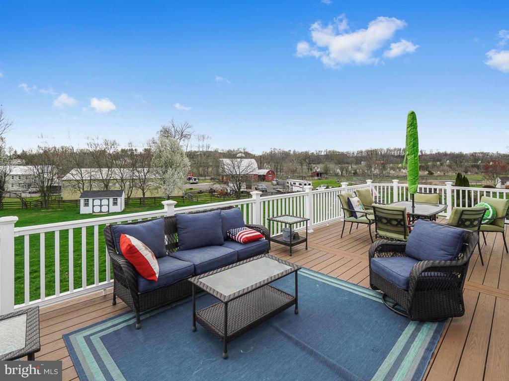 Sprawling Deck overlooking open Backyard - 11206 ANGUS WAY, WOODSBORO