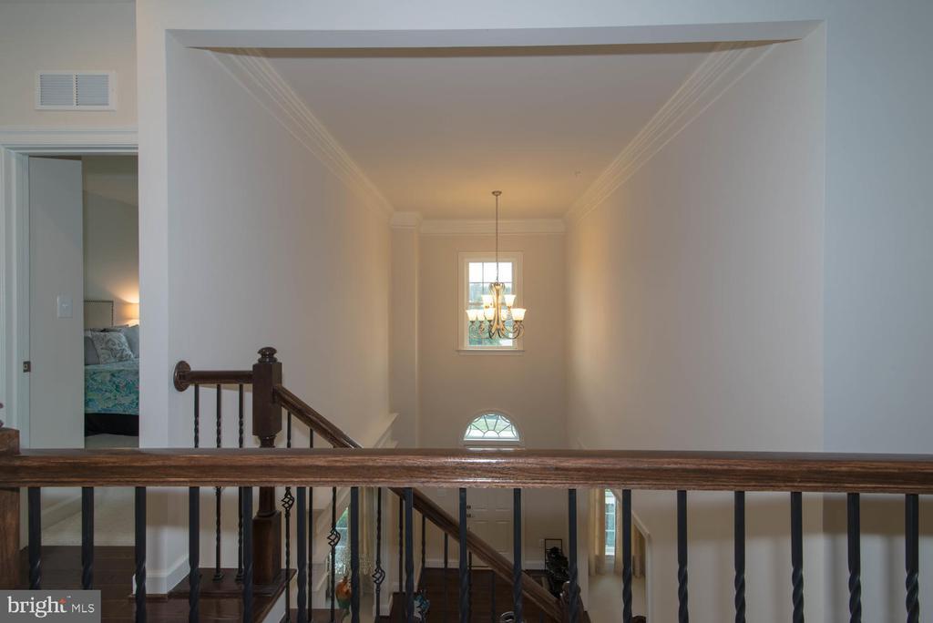 Foyer From Upper Level - 14416 CHELSEA GARDEN CT, LAUREL
