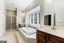 Large soaking tub and separate shower stall - 43965 RIVERPOINT DR, LEESBURG
