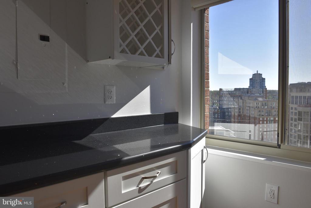 wine rack, pot hanger and window in kitchen - 2151 JAMIESON AVE #1903, ALEXANDRIA