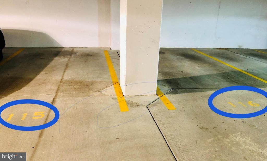 2 Garage Parking Spaces - 38 MARYLAND AVE #501, ROCKVILLE