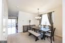 Dining Room with Large Window. - 9648 SAYBROOKE DR, BRISTOW