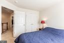 Bedroom # 3 with View of Large Closet! - 9648 SAYBROOKE DR, BRISTOW