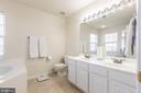 Master Bathroom with Double Vanities! - 9648 SAYBROOKE DR, BRISTOW
