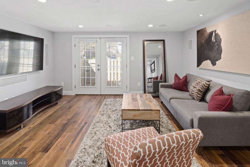 Reclaimed hardwood floors - 1130 N UTAH ST, ARLINGTON