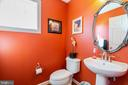 Main level powder room - 32 PALISADES DR, STAFFORD