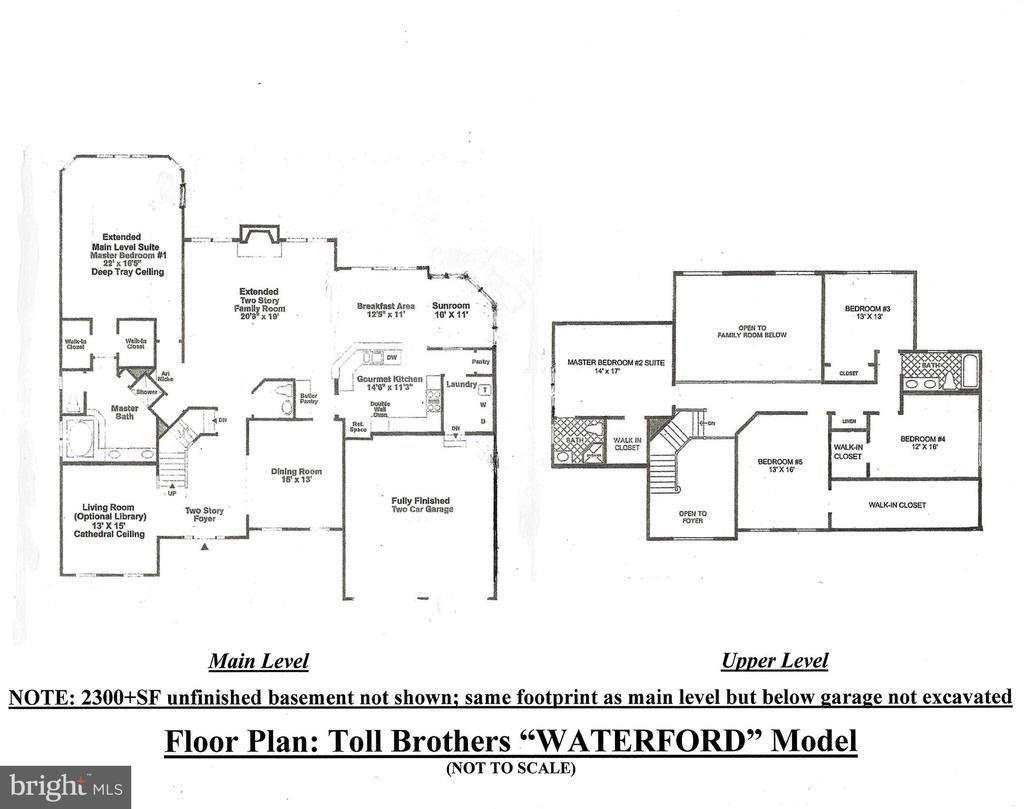 Floor Plan - Waterford Model (ML & UL) - 20137 BLACKWOLF RUN PL, ASHBURN