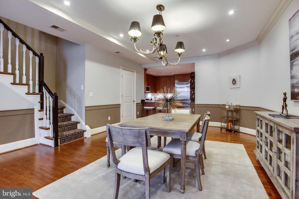 Dining area + stairwell to 2nd level - 1830 JEFFERSON PL NW #8, WASHINGTON