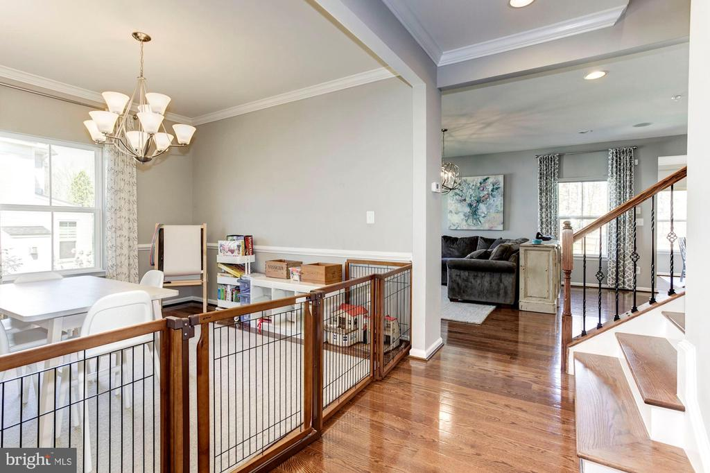 Hardwood Floors & Steps w/Iron Railings - 2308 SWEET PEPPERBRUSH LOOP, DUMFRIES