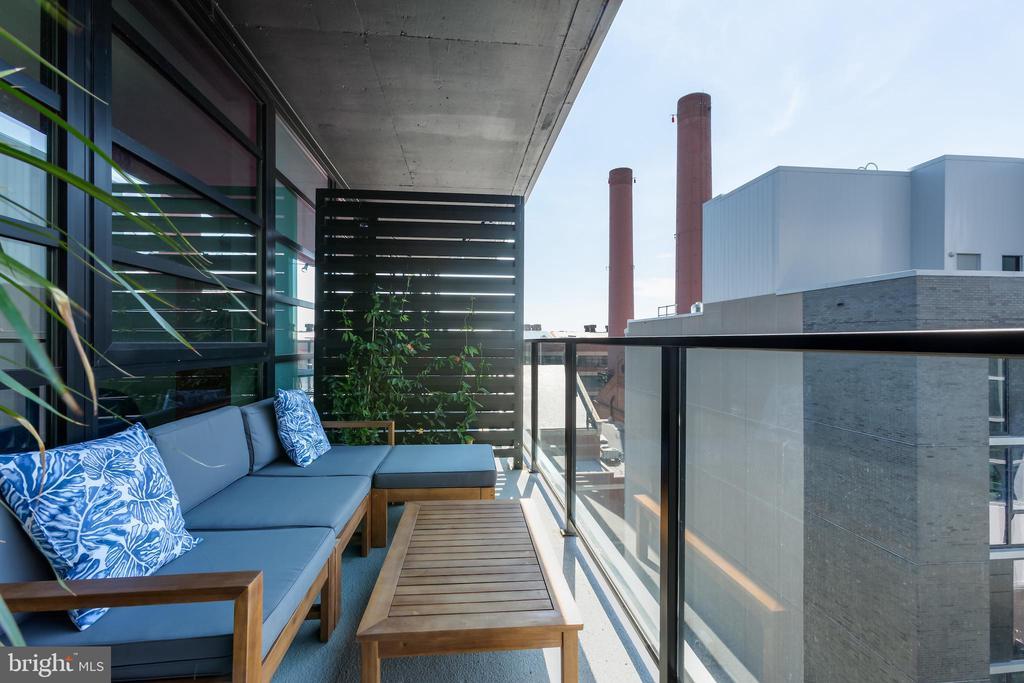 Private Balcony- 160sqft (approx) - 1300 4TH ST SE #808, WASHINGTON