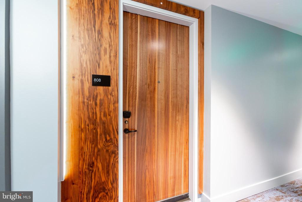 Luxurious Wood Door with Keyless Entry - 1300 4TH ST SE #808, WASHINGTON