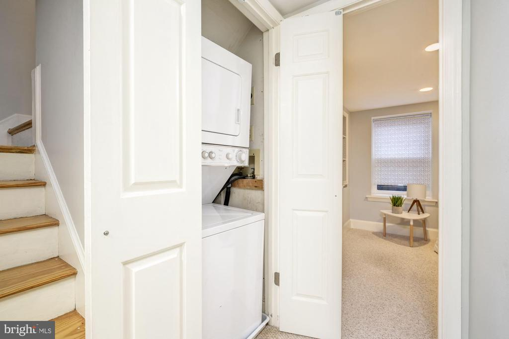 Stacked W/D on lower level - 1813 16TH ST NW #1B, WASHINGTON