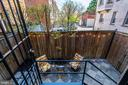 View from DR door to patio - 1813 16TH ST NW #1B, WASHINGTON