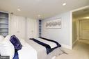 BR #2 with built-in shelving and double closets - 1813 16TH ST NW #1B, WASHINGTON