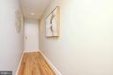 Unit 1B entry hall - view to front door - 1813 16TH ST NW #1B, WASHINGTON
