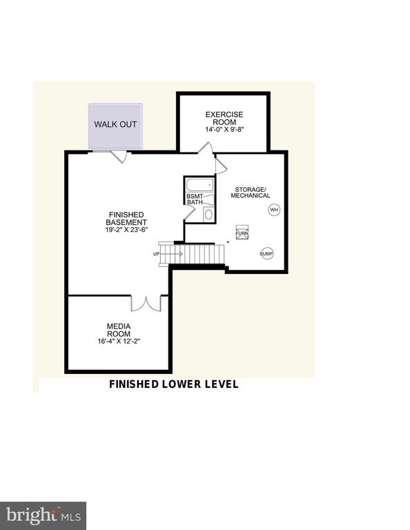 Lower Level Floor Plan - 2308 SWEET PEPPERBRUSH LOOP, DUMFRIES