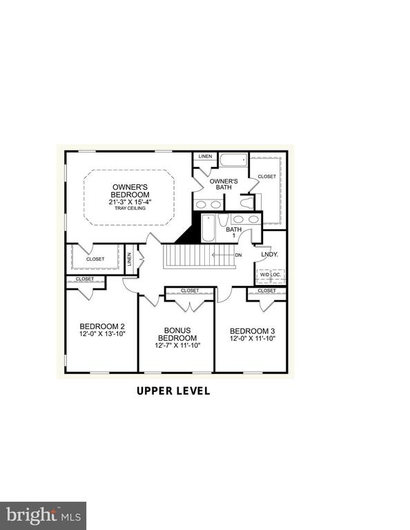 Upper Level Floor Plan - 2308 SWEET PEPPERBRUSH LOOP, DUMFRIES