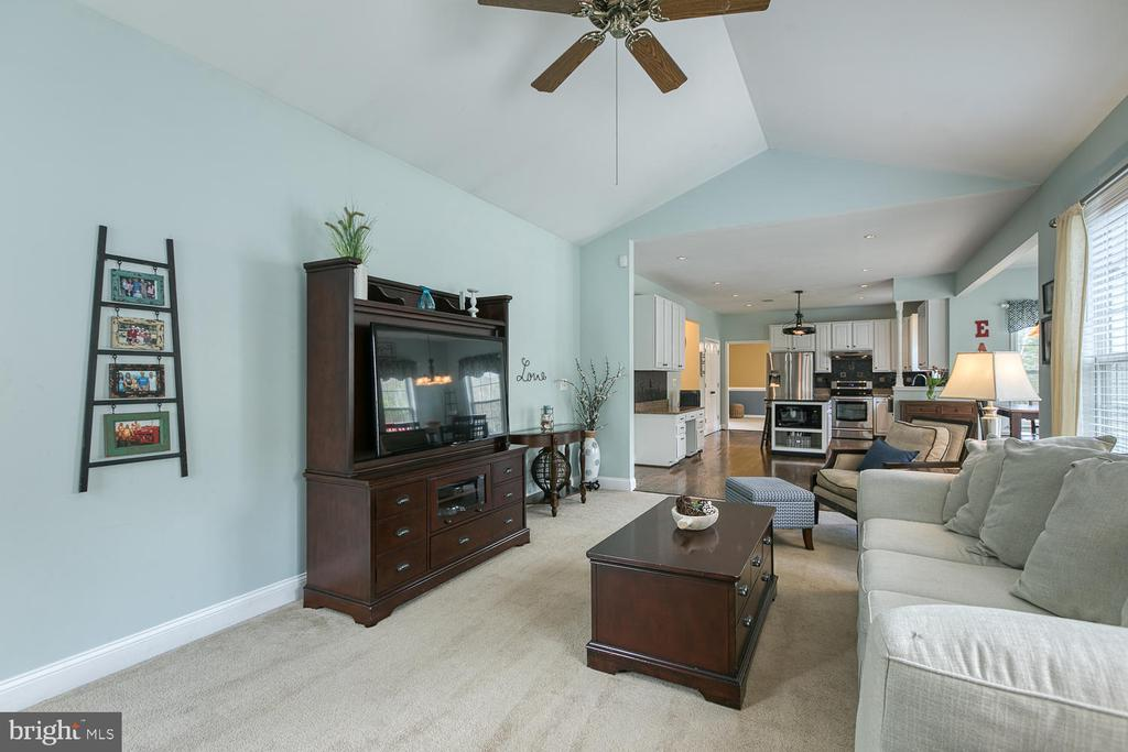 Open concept kitchen and family room - 149 SUMMER BREEZE LN, FREDERICKSBURG