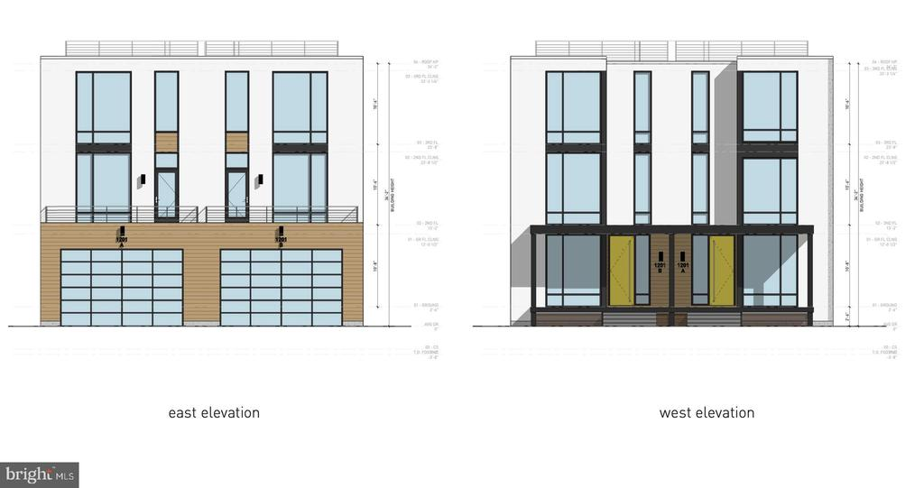 East Elevation/West Elevation - 1201 N VERNON ST, ARLINGTON