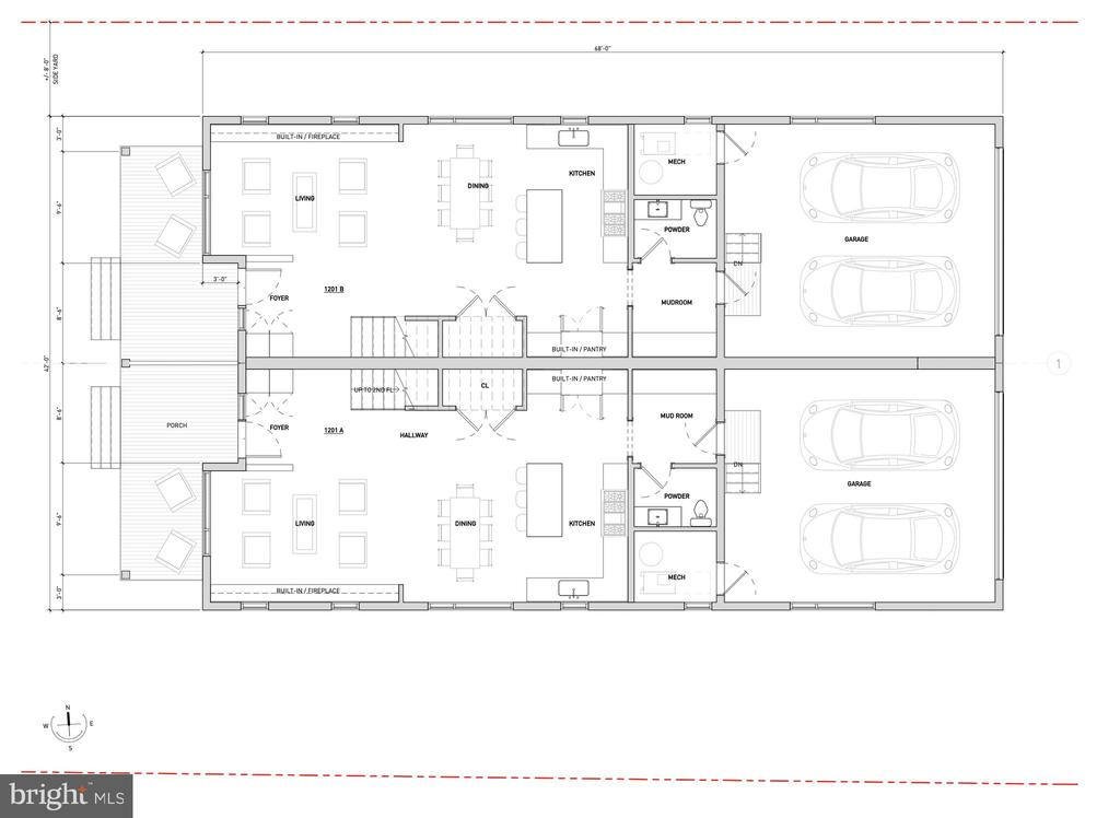 1st Floor Proposed Layout - 1201 N VERNON ST, ARLINGTON