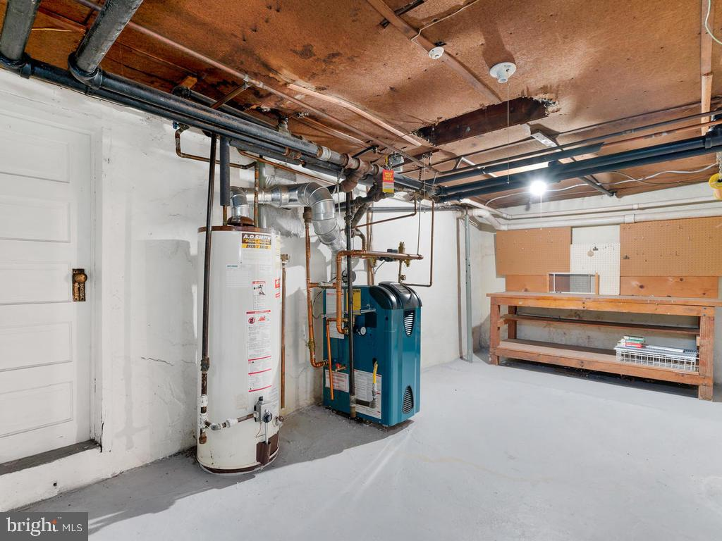 Basement Utility Room, Workshop - 4207 STANFORD ST, CHEVY CHASE