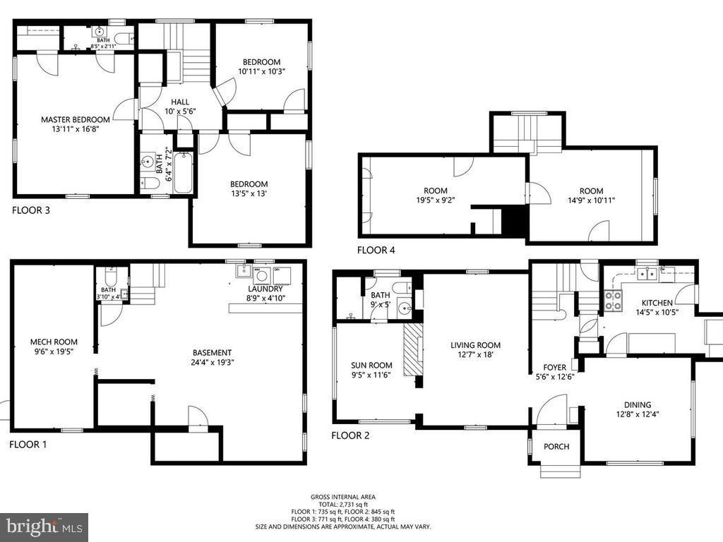 Floor Plans - 4207 STANFORD ST, CHEVY CHASE