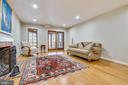 Lower Level Family Room w/FP - 4833 BROAD BROOK DR, BETHESDA