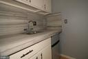 1st floor wet bar with mini refrigerator/freezer - 601 NORTH CAROLINA AVE SE, WASHINGTON