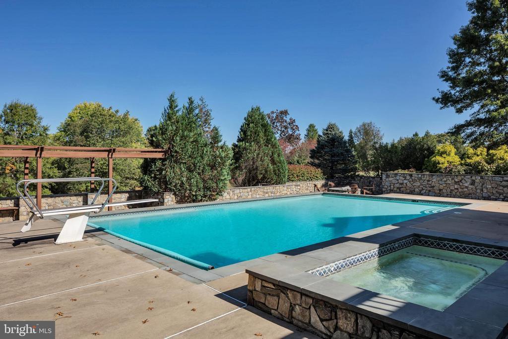 Pool and spa - 34332 BRIDGESTONE LN, BLUEMONT