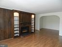 Living Room with Electrical Fireplace - 136 DUVALL LN #304, GAITHERSBURG